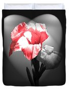 Gladiola With Heart Duvet Cover