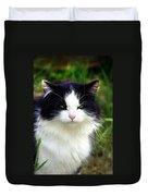 Glaring Cat Duvet Cover