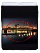 Glasgow Clyde Arc Bridge Duvet Cover