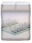 Glass Chess Duvet Cover