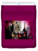 Glass Decanters And Glasses Duvet Cover