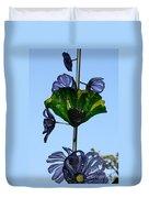 Glass Hollyhocks Duvet Cover