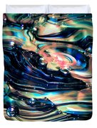 Glass Macro Abstract Rpoce Duvet Cover by David Patterson