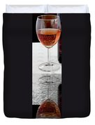 Glass Of Wine Painterly Mirrored Duvet Cover