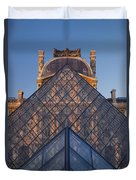 Glass Pyramid At Musee Du Louvre Duvet Cover