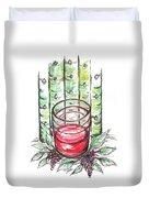 Glass Rosy Wine Duvet Cover