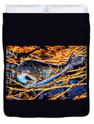 Glass Whale On Fishing Nets Duvet Cover