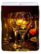 Glasses Aglow Duvet Cover