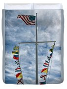 Glen Cove American Flag Duvet Cover