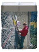 T-306607-glen Denny With Me On El Cap First Ascent 1962 Duvet Cover