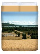 Glen Lake From The Dune Climb Duvet Cover