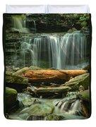 Glen Leigh River Rocks And Falls Duvet Cover