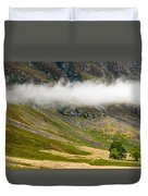 Misty Mountain Landscape Duvet Cover