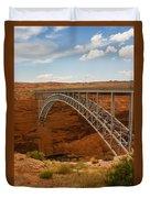 Glenn Dam Bridge Duvet Cover