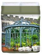 Glenveagh Garden Gazebo - Irish Art Duvet Cover