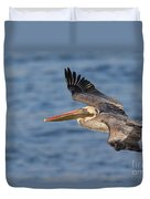 gliding by Pelican Duvet Cover