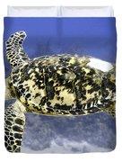 Gliding Sea Turtle Duvet Cover