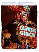 Glitter Gulch Duvet Cover