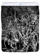 Gloomy Icy Tree Duvet Cover