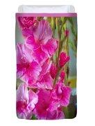 Glorious Gladiolus Duvet Cover