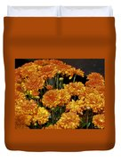 Glorious Golden Mums Duvet Cover