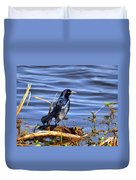 Glorious Grackle Duvet Cover