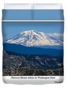 Glorious Mount Adams Duvet Cover