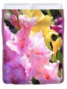Glorious Summer Gladiolus Duvet Cover
