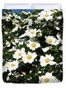Glorious White Roses Db Duvet Cover