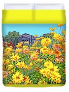 Glorious Yellow And The Franklin Duvet Cover