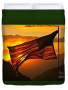 Glory At Sunset Duvet Cover