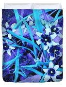 Glory Of The Snow - Violet And Turquoise Duvet Cover