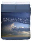 Glory To God   Psalm 10 1 Duvet Cover