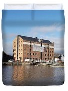 Gloucester Historic Docks 3 Duvet Cover