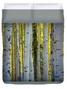 Glowing Aspens Duvet Cover