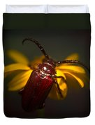 Glowing Beetle Duvet Cover