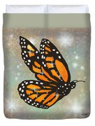 Glowing Butterfly Duvet Cover