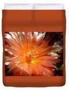 Glowing Cactus Flower Duvet Cover