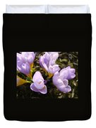 Glowing Floral Art Prints Crocus Flowers Duvet Cover