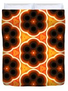 Glowing Floral Pattern Duvet Cover