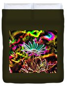 Glowing Flower Duvet Cover