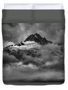 Glowing Glaciers In The Tantalus Range Duvet Cover