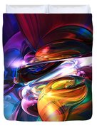 Glowing Life Abstract Duvet Cover