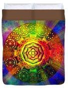 Glowing Mandala Duvet Cover