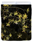 Glowing Orchids Duvet Cover