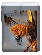 Glowing Palm Blossoms Duvet Cover
