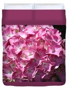 Glowing Pink Hydrangea Duvet Cover