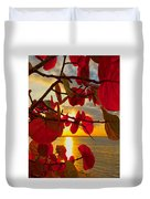 Glowing Red Duvet Cover by Stephen Anderson