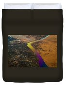 Glowing River. Rainbow Earth Duvet Cover