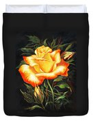 Glowing Rose 2 Duvet Cover